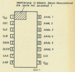 Halbleiterschaltkreis U804 DC Anschlussbelegung
