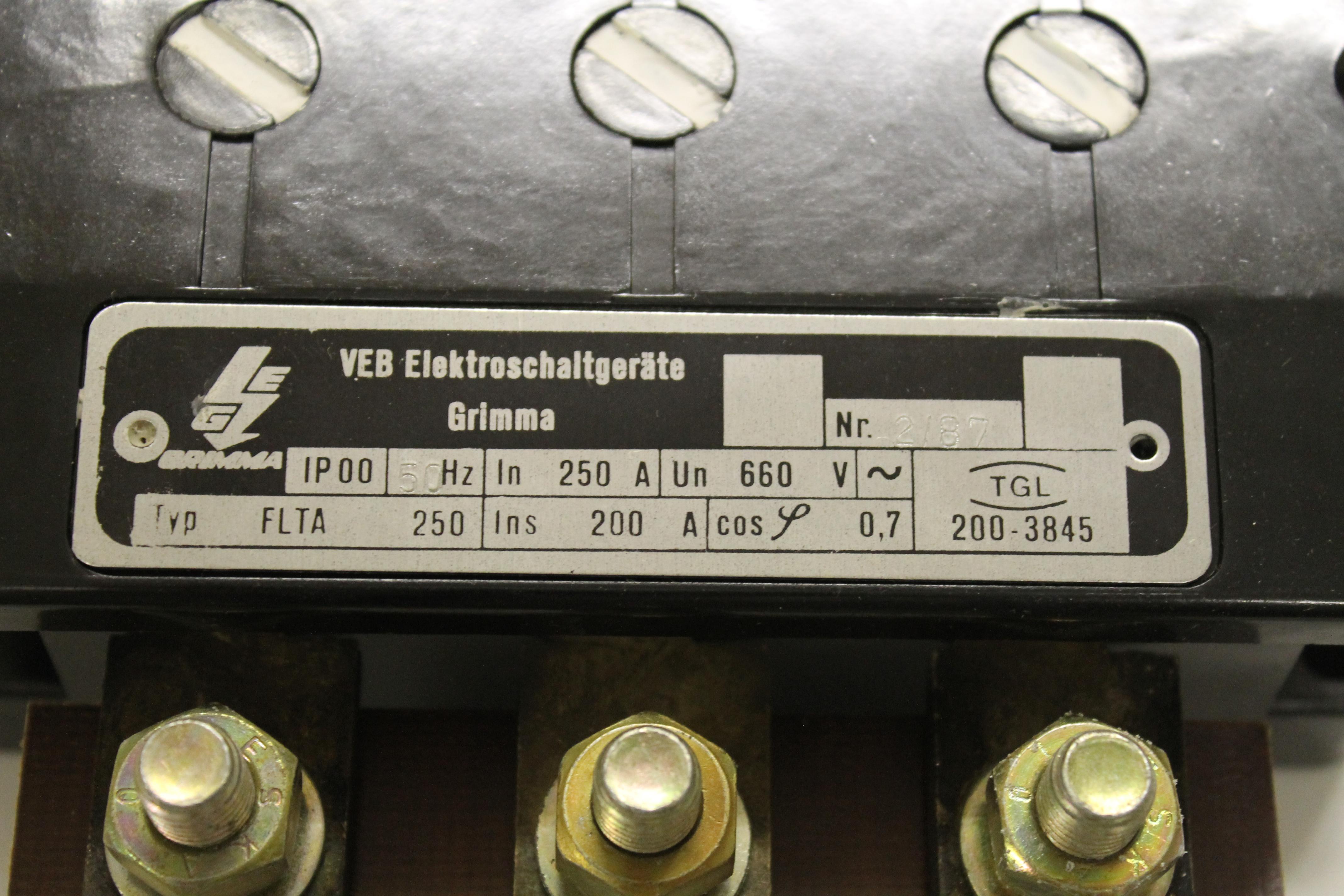 DDR Lastschalter FLTA 250