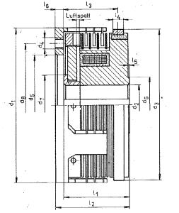 Masse Lamellenkupplung Typ 4KL
