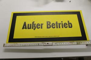 DDR Hinweisschild Schild Außer Betrieb