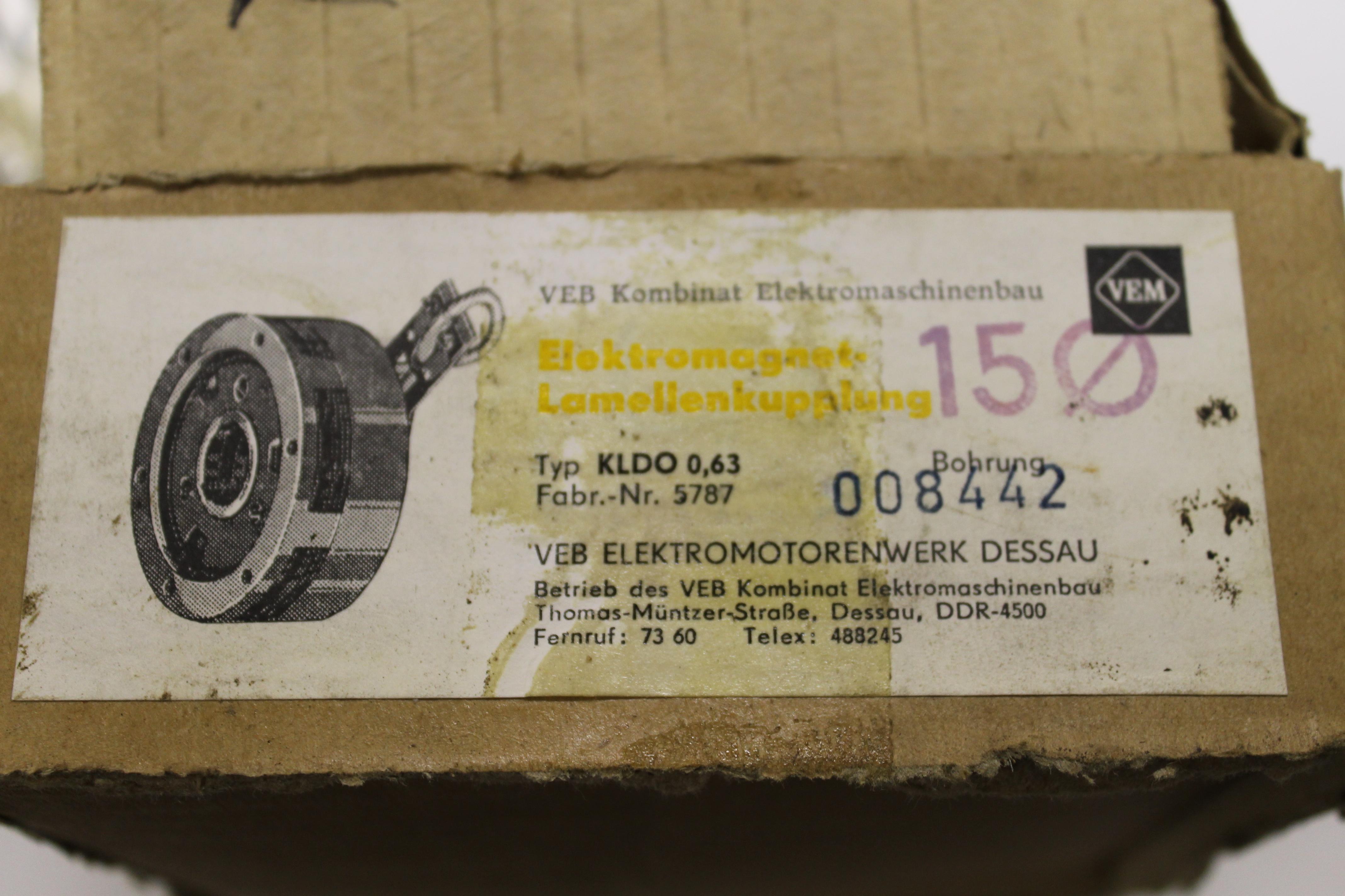 KLDO 0,63 - DDR Kupplung TGL 9922 Bohrung 15