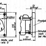 TGL 16563 Motorschutzschalter mit Frontplatte