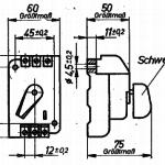 TGL 16563 Motorschutzschalter ohne Gehaeuse