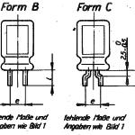 Elko-Kondensator TGL 38928 Bauform B und Form C