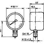 TGL 16372 Manometer Variante A