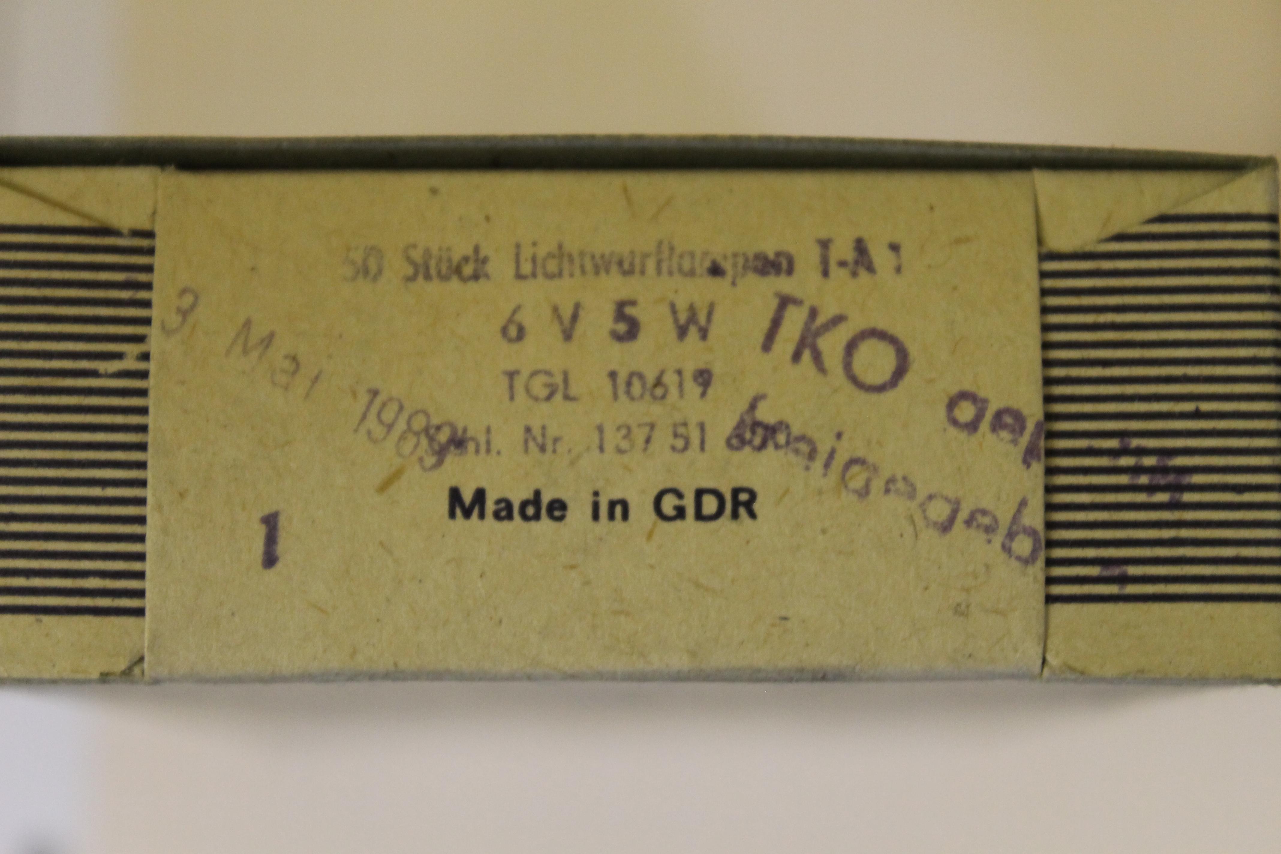 TGL 10961 NARVA Lichtwurflampe